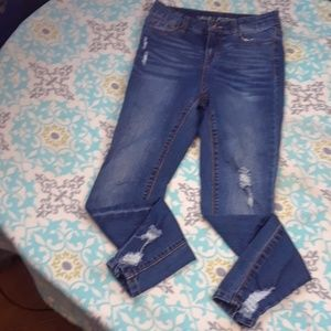 Vanilla star high rise skinny jeans ripped